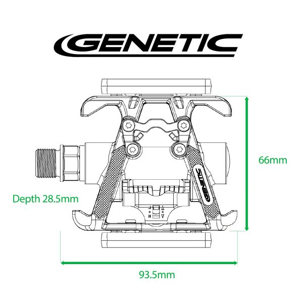 Genetic Schizo Pedal Dimensions